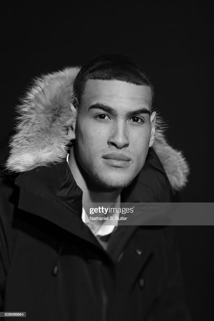 Dwight Powell of the Dallas Mavericks poses for portraits during the NBAE Circuit as part of 2016 All-Star Weekend at the Sheraton Centre Hotel on February 11, 2016 in Toronto, Ontario, Canada.