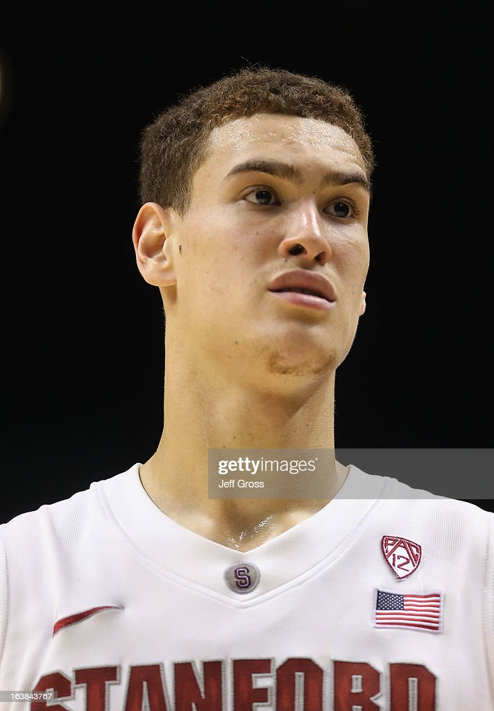 Dwight Powell #33 of the Stanford Cardinal looks on against the Arizona State Sun Devils during the first round of the Pac 12 Tournament at the MGM Grand Garden Arena on March 13, 2013 in Las Vegas, Nevada.