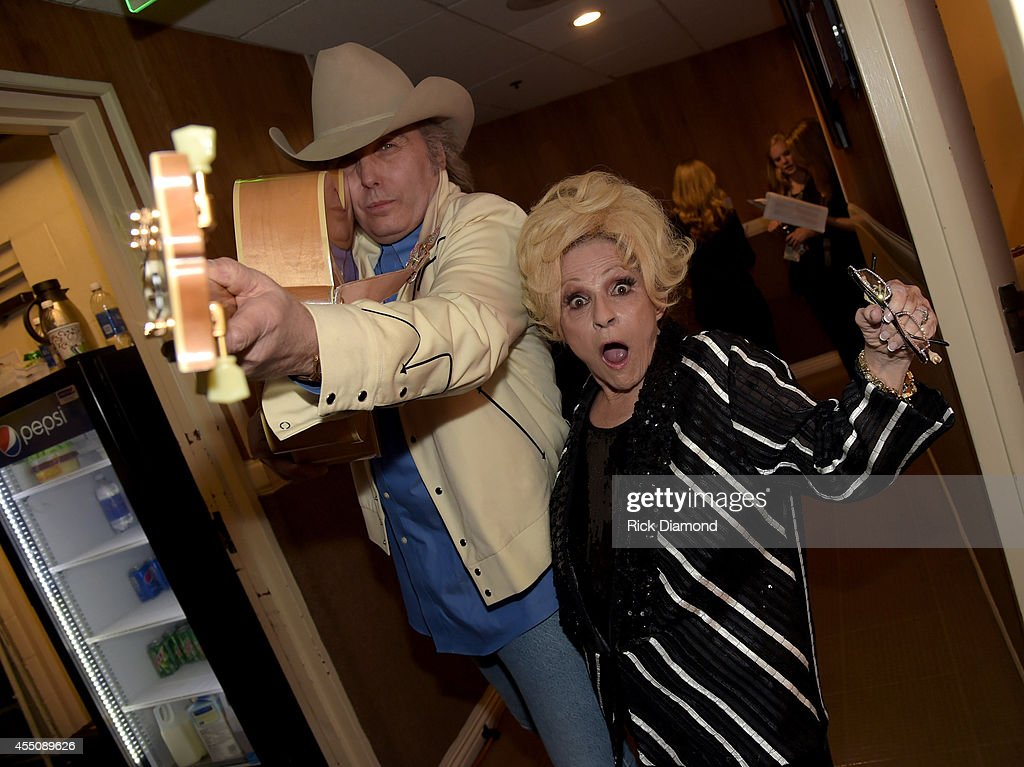 Dwight Yoakam and Brenda Lee pose backstage at the 8th Annual ACM Honors at Ryman Auditorium on September 9 2014 in Nashville Tennessee