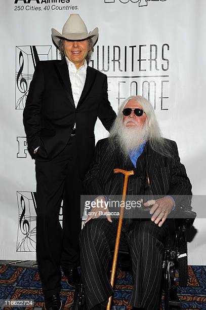 Dwight Yoakam and Leon Russell attend the Songwriters Hall of Fame 42nd Annual Induction and Awards at The New York Marriott Marquis Hotel Shubert...