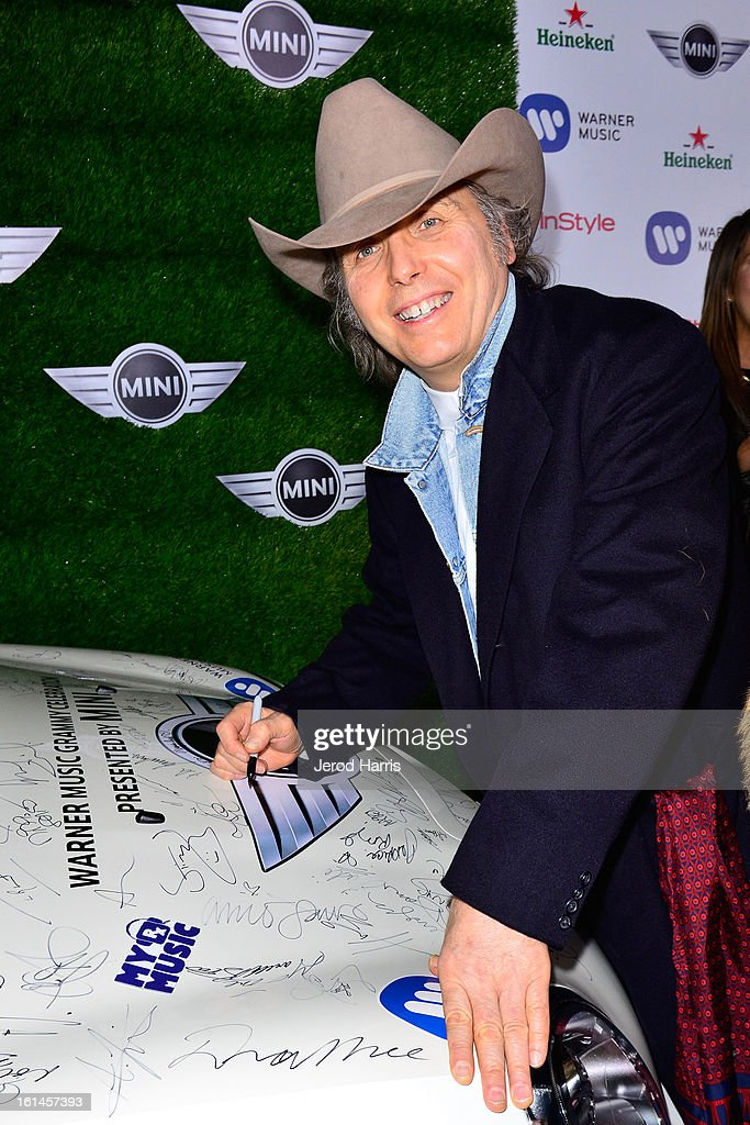 <a gi-track='captionPersonalityLinkClicked' href=/galleries/search?phrase=Dwight+Yoakam&family=editorial&specificpeople=211566 ng-click='$event.stopPropagation()'>Dwight Yoakam</a> arrives at the Warner Music Group GRAMMY Celebration - Presented by Mini at Chateau Marmont on February 10, 2013 in Los Angeles, California.