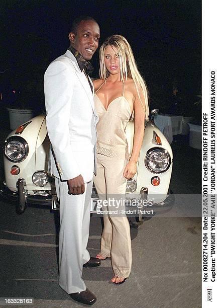 Dwight Yorke and Jordan at theLaureus Sport Awards In Monaco