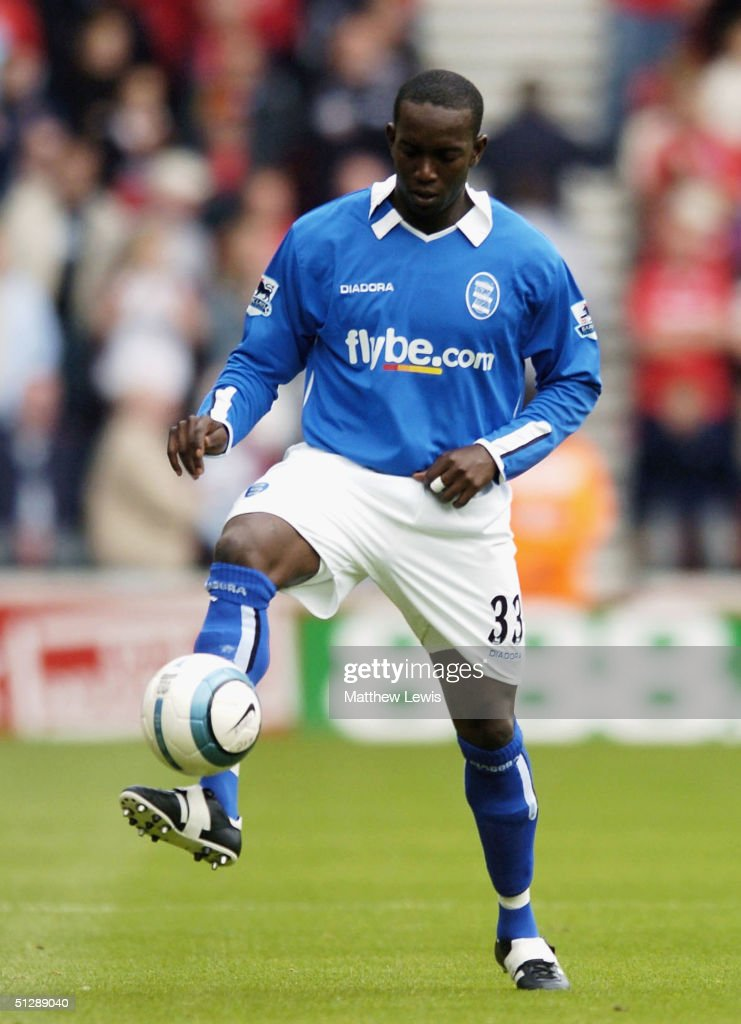Dwight Yorke of Birmingham in action during the Barclays Premiership match between Middlesbrough and Birmingham City at The Riverside Stadium on...