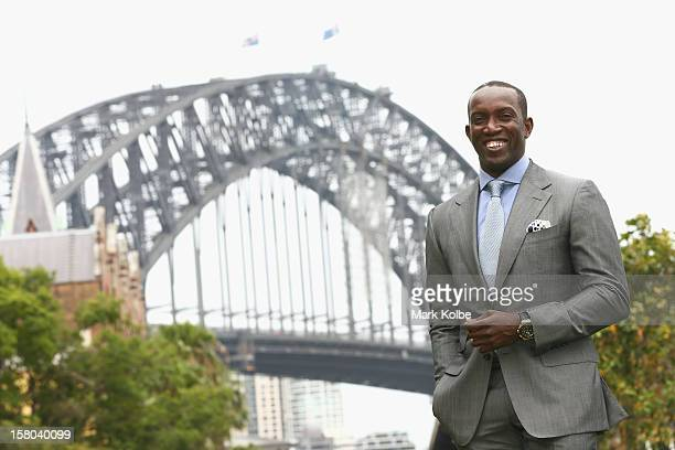 Dwight Yorke poses after a press conference at Museum of Contemporary Art on December 10 2012 in Sydney Australia Manchester United will play an...