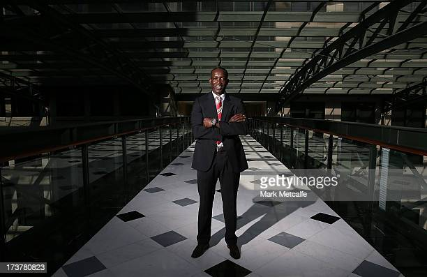 Dwight Yorke poses during the official Manchester United official lunch at Westin Hotel on July 18 2013 in Sydney Australia