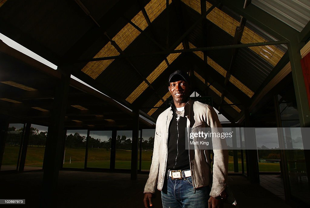 <a gi-track='captionPersonalityLinkClicked' href=/galleries/search?phrase=Dwight+Yorke+-+Soccer+Player&family=editorial&specificpeople=206855 ng-click='$event.stopPropagation()'>Dwight Yorke</a> poses following a Sydney FC A-League training session ahead of the Sydney FC v Everton Tour Down Under match on July 10, at Macquarie University Fields on July 8, 2010 in Sydney, Australia.