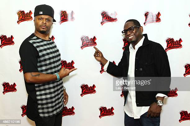 Wrek and comedian Guy Torry attends the 20th Anniversary Of Phat Tuesdays at Club Nokia on September 1 2015 in Los Angeles California
