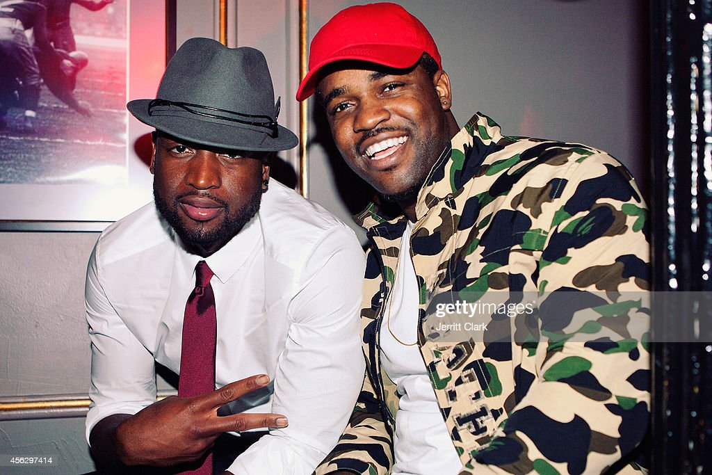 Dwyane Wade and ASAP Ferg attends the 3yr Anniversary Party of Bounce Sporting Club on September 16 2014 in New York City