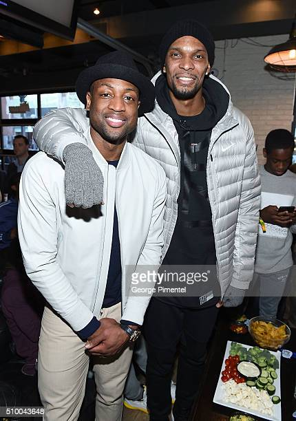 Dwyane Wade and Chris Bosh attends the DWade All Star Bowling Classic Benefitting The Sandals Foundation And Wade's World Foundation at The Ballroom...