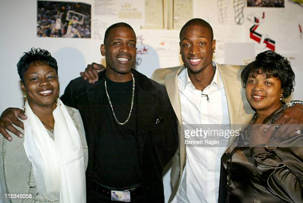 Dwyane Wade and Family during Launch Party To Celebrate NBA AllStar Dwyane Wade And His New Converse Signature Shoe 'Wade' at Splashlight Studios in...