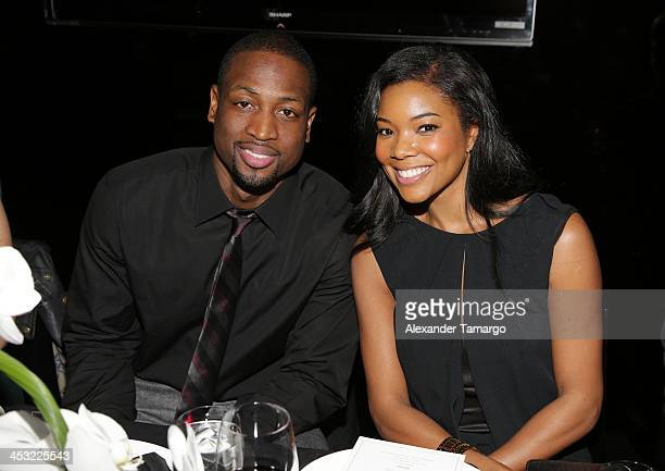 Dwyane Wade and Gabrielle Union are seen at Prime 112 for a special dinner to celebrate the partnership between Hublot and Miami HEAT player Dwyane...