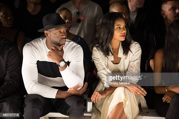Dwyane Wade and Gabrielle Union are seen during New York Fashion Week Men's on July 14 2015 in New York City