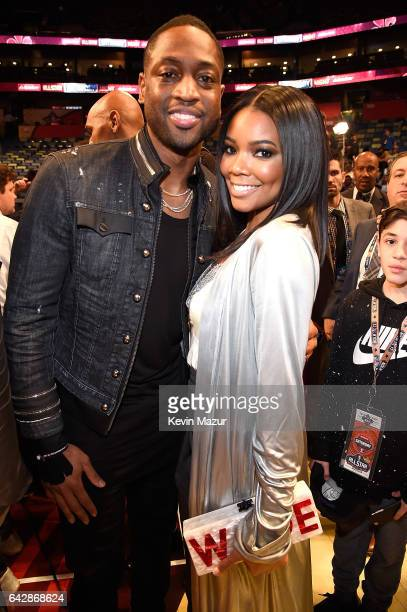 Dwyane Wade and Gabrielle Union attend NBA AllStar Saturday Night at Smoothie King Center on February 18 2017 in New Orleans Louisiana