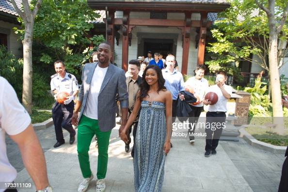 Dwyane Wade and Gabrielle Union leave Green City Villa after having lunch to head towards inTime Mall for Wade's 3D Headphone Launch Event on July 11...