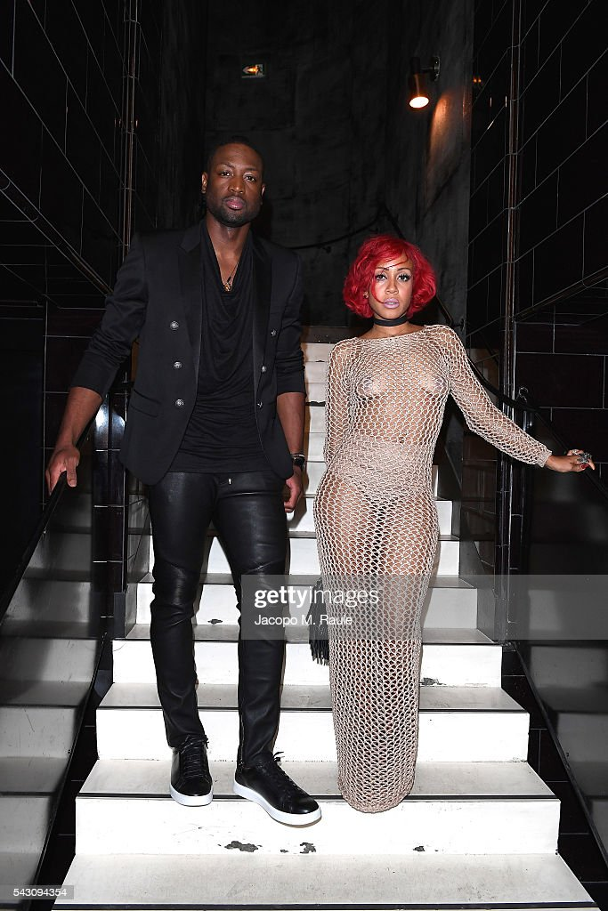 <a gi-track='captionPersonalityLinkClicked' href=/galleries/search?phrase=Dwyane+Wade&family=editorial&specificpeople=201481 ng-click='$event.stopPropagation()'>Dwyane Wade</a> and guest attend the Balmain Menswear Spring/Summer 2017 after party as part of Paris Fashion Week at Les Bains on June 25, 2016 in Paris, France.