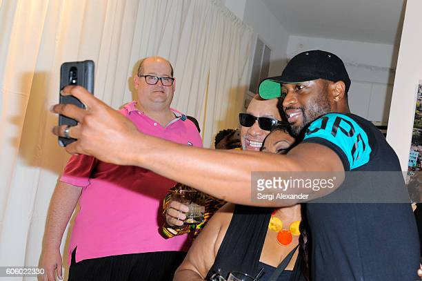 Dwyane Wade attends Haitian photographer Bob Metelus unveils newest collection Haiti A Collective Cry from a Forgotten Paradise on September 15 2016...