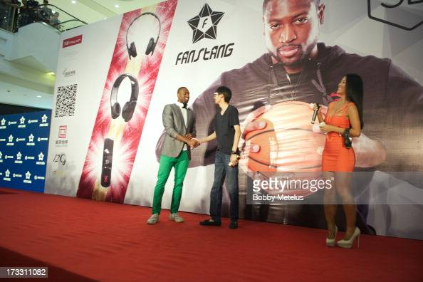 Dwyane Wade attends his 3D Headphones Launch Event presented by Fanstang at InTime Mall on July 11 2013 in Hangzhou China