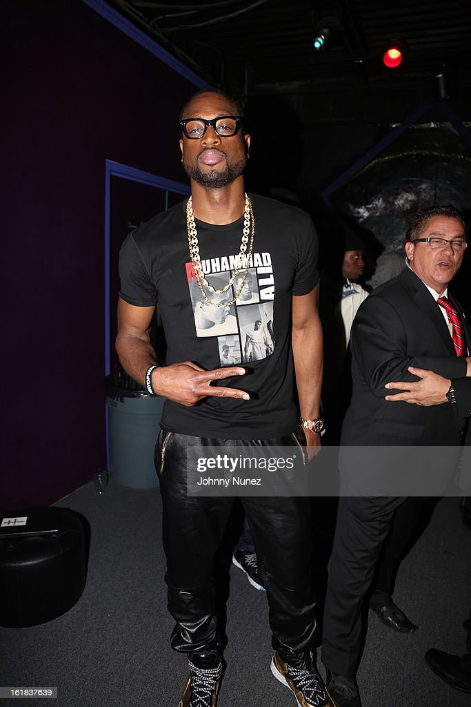 <a gi-track='captionPersonalityLinkClicked' href=/galleries/search?phrase=Dwyane+Wade&family=editorial&specificpeople=201481 ng-click='$event.stopPropagation()'>Dwyane Wade</a> attends the D'usse All-Star Weekend Party hosted By Jay-Z at Rich's on February 16, 2013, in Houston, Texas.