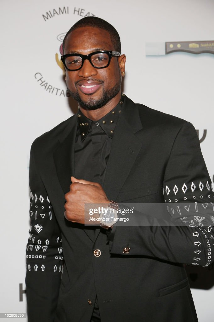 Dwyane Wade attends the Miami HEAT Family Foundation night of 'Motown Revue' on February 27, 2013 in Miami, Florida.