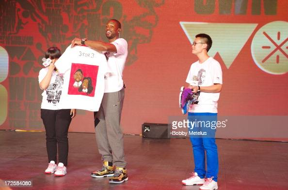 Dwyane Wade attends the WOW meet and greet on July 3 2013 in Beijing China