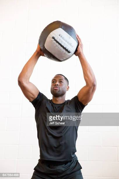 Dwyane Wade attends training day as MISSION Launches First Full Apparel Collection with Dwyane Wade on March 3 2017 in Chicago Illinois