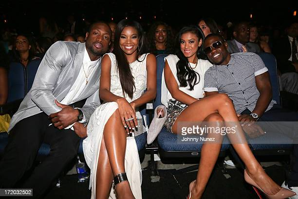 Dwyane Wade Gabrielle Union Eniko Parrish and Kevin Hart attend 2013 BET Awards at Nokia Plaza LA LIVE on June 30 2013 in Los Angeles California