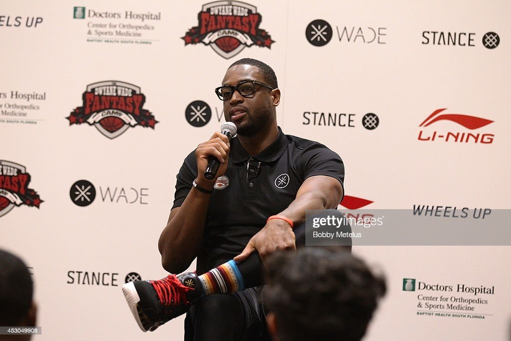 Dwyane Wade Hosts Fourth Annual Fantasy Basketball Camp at Westin Diplomat on August 1, 2014 in Hollywood, Florida.