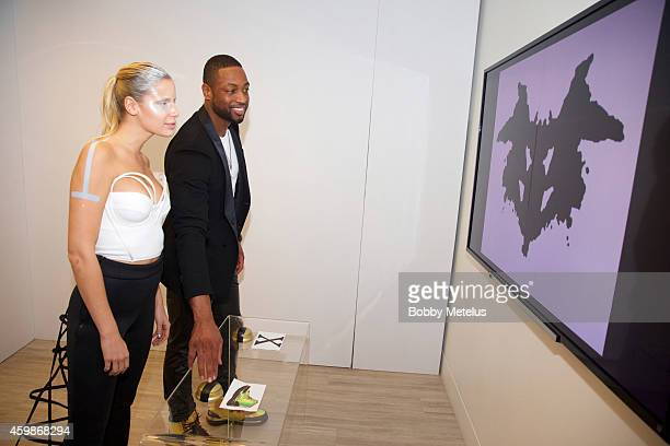 Dwyane Wade interacts with actors at the Haute Living and The Webster event hosted by Dwyane Wade and footwear desinger Alejandro Ingelmo during Art...
