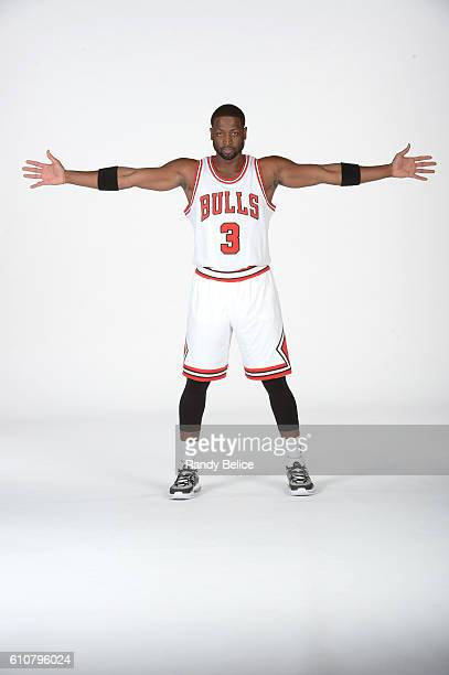 Dwyane Wade of the Chicago Bulls poses for a portrait during the 20162017 Chicago Bulls Media Day on September 26 2016 at the Advocate Center in...