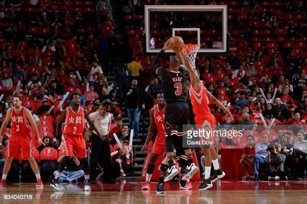 Dwyane Wade of the Chicago Bulls shoots the ball during the game against the Houston Rockets on February 3 2017 at the Toyota Center in Houston Texas...