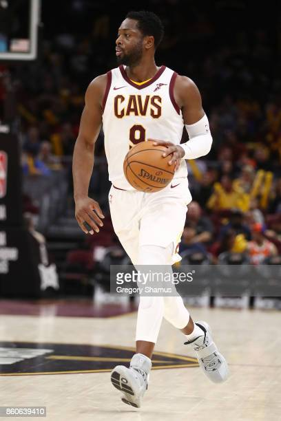Dwyane Wade of the Cleveland Cavaliers while playing the Chicago Bulls during a pre season game at Quicken Loans Arena on October 10 2017 in...