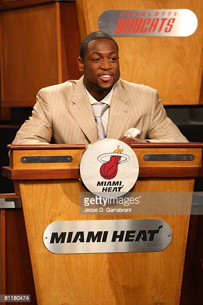 Dwyane Wade of the Miami Heat attends the 2008 NBA Draft Lottery at the NBATV Studios May 20 2008 in Secaucus New Jersey NOTE TO USER User expressly...