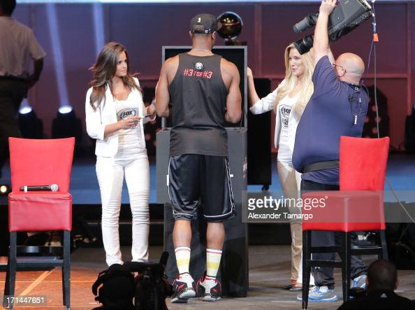 Dwyane Wade of the Miami Heat attends the NBA Championship victory rally at the AmericanAirlines Arena on June 24 2013 in Miami Florida The Miami...