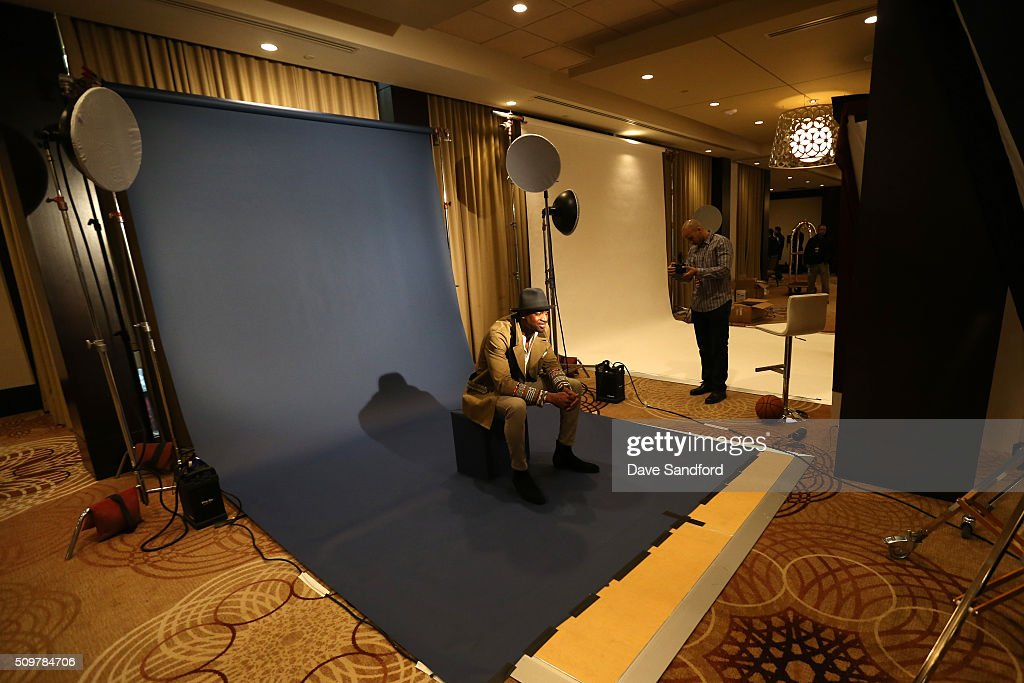 Dwyane Wade #3 of the Miami Heat behind the scenes during the NBAE Circuit as part of 2016 NBA All-Star Weekend at the Sheraton Centre Toronto Hotel on February 12, 2016 in Toronto, Ontario, Canada.