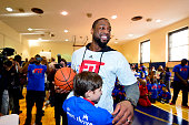 Dwyane Wade of the Miami Heat participates in NBA Cares/FIT Day of Service at Teunis G Bergen during the 2015 NBA AllStar Weekend on February 13 2015...