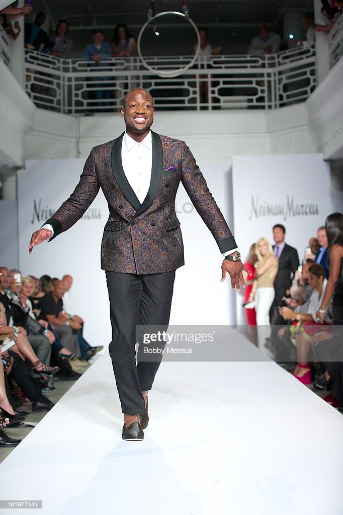 <a gi-track='captionPersonalityLinkClicked' href=/galleries/search?phrase=Dwyane+Wade&family=editorial&specificpeople=201481 ng-click='$event.stopPropagation()'>Dwyane Wade</a> walks the runway during NBA Champion and Miami Heat <a gi-track='captionPersonalityLinkClicked' href=/galleries/search?phrase=Dwyane+Wade&family=editorial&specificpeople=201481 ng-click='$event.stopPropagation()'>Dwyane Wade</a>'s Night On The RunWade to benefit Wade's World Foundation on September 26, 2013 in Miami, Florida.