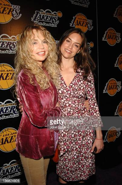 Dyan Cannon and Jennifer Grant during 2nd Annual Lakers Casino Night Benefiting the Lakers Youth Foundation Red Carpet and Inside at Barker Hanger in...