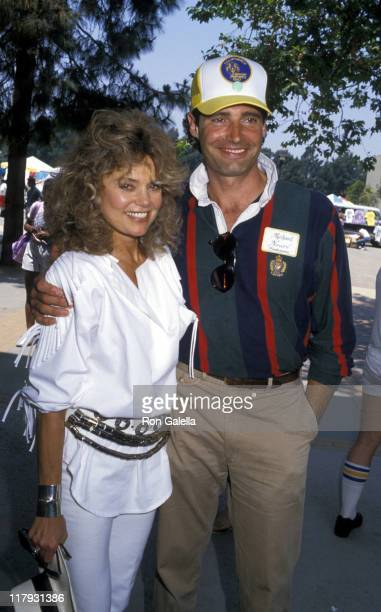 Dyan Cannon and Michael Nouri during Special Olympic Competition June 20 1987 at Pepperdine University in Malibu California United States