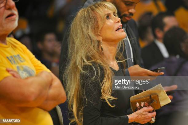 Dyan Cannon attends a basketball game between the Los Angeles Lakers and the Los Angeles Clippers at Staples Center on October 19 2017 in Los Angeles...