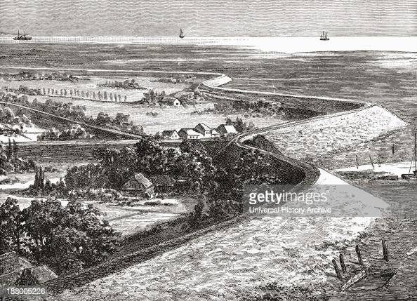 Dykes In North Holland The Netherlands In The 19Th Century From Pictures From Holland By Richard Lovett Published 1887