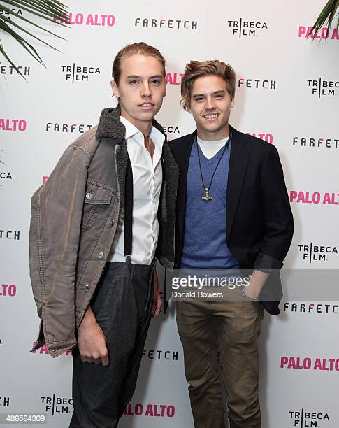 Dylan and Cole Sprouse attend The 2014 Tribeca Film Festival After Party Of Gia Coppola's Palo Alto Hosted By Farfetch At UpDown on April 24 2014 in...