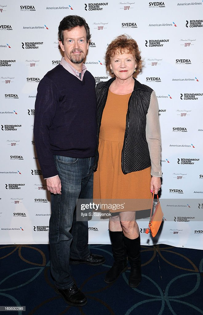 Dylan Baker and Becky Ann Baker attends the 2013 Roundabout Theatre Company Spring Gala at Hammerstein Ballroom on March 11, 2013 in New York City.