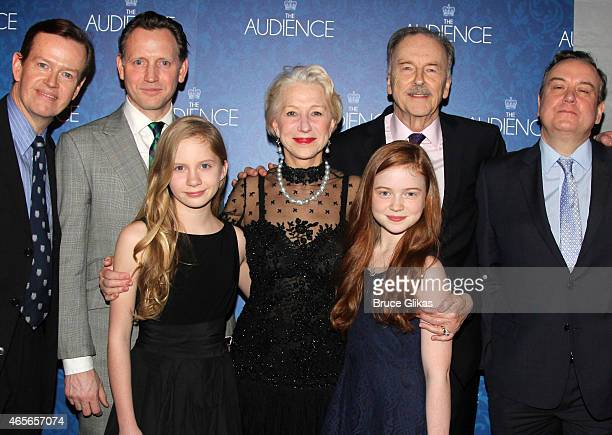 Dylan Baker Rufus Wright Elizabeth Teeter Helen Mirren Sadie Sink Michael Elwyn Richard McCabe and Judith Ivey pose at the Opening Night After Party...