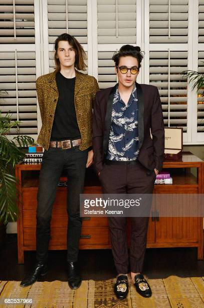 Dylan Brosnan and Levi Dylan attend Oliver Peoples 30th Anniversary Party on May 12 2017 in Los Angeles California