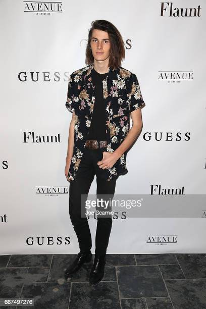 Dylan Brosnan arrives at the Flaunt and Guess celebration of the Alternative Facts Issue hosted by Joe Jonas and DNCE at Avenue on April 11 2017 in...