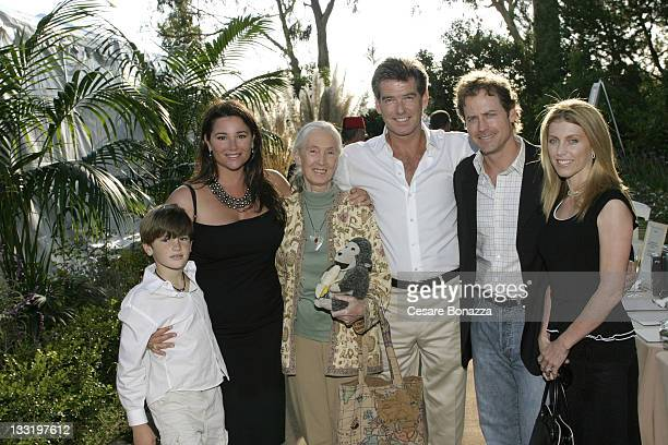 Dylan Brosnan Keely Brosnan Jane Goodall Pierce Brosnan Greg Kinnear and wife Helen