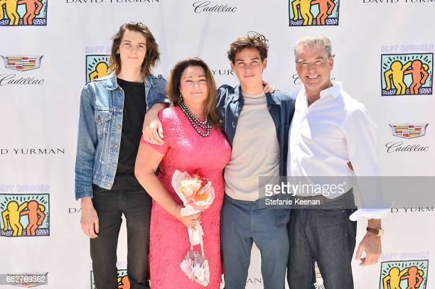 Dylan Brosnan Pierce Brosnan Keely Shaye Smith and Paris Brosnan attend Cindy Crawford and Kaia Gerber host Best Buddies Mother's Day Brunch in...