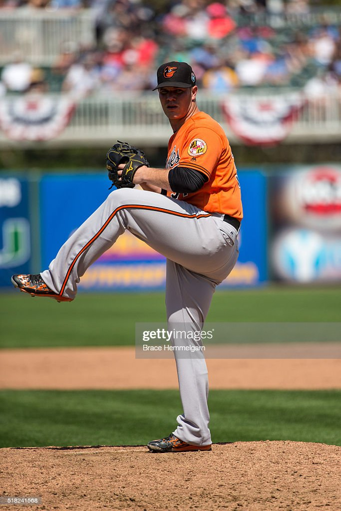 <a gi-track='captionPersonalityLinkClicked' href=/galleries/search?phrase=Dylan+Bundy&family=editorial&specificpeople=7948654 ng-click='$event.stopPropagation()'>Dylan Bundy</a> #37 of the Baltimore Orioles pitches against the Minnesota Twins during a spring training game at Hammond Stadium on March 13, 2016 in Fort Myers, Florida.