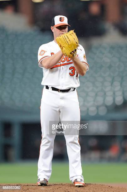 Dylan Bundy of the Baltimore Orioles pitches against the Minnesota Twins at Oriole Park at Camden Yards on May 23 2017 in Baltimore Maryland