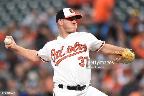 Dylan Bundy of the Baltimore Orioles pitches in the first inning during a baseball game against the Tampa Bay Rays at Oriole Park at Camden Yards on...